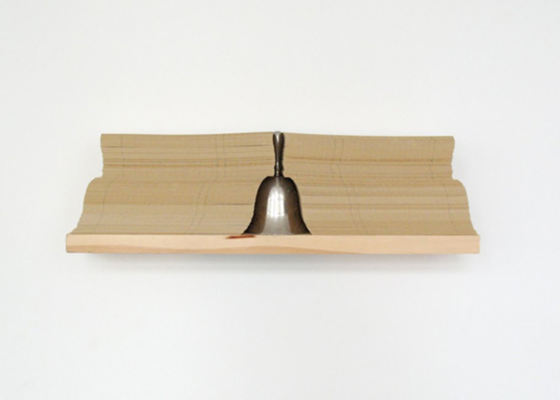 Som, from the series Rack-Objects, 2008. Paper, Silver and Wood, 13 x 44 x 9,5 cm