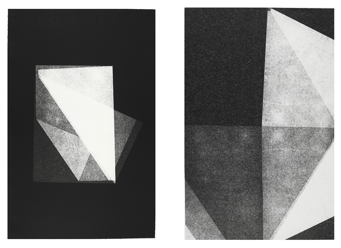 Dobra, 2015. Monoprint on paper. 51 x 76 cm (each)