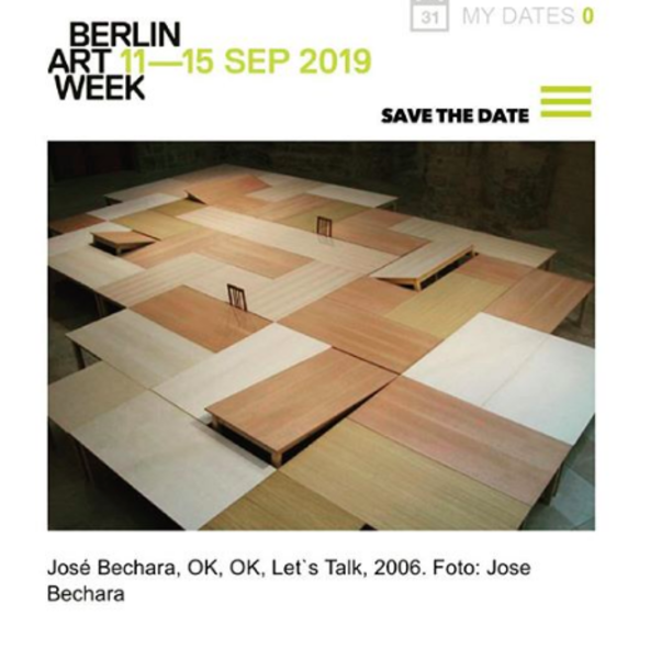 José Bechara na Berlim Art Week